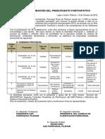 Acta Presupuesto Participativo 2013