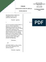 Denver Justice v. City of Golden, 10th Cir. (2005)