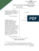 Smith v. Board of County Commissioner f, 10th Cir. (2009)