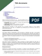 TDA Diccionario