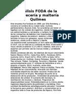 Análisis FODA de La Cervecería y Maltería Quilmes