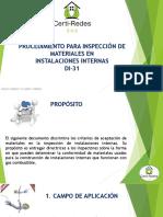 Inspección de Materiales en redes de gas