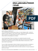 19-06-16 Crean y Firman Pintura, Gobernadora Pavlovich y Maestro Javier Arévalo. -El Imparcial