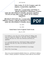 State of Utah, John Archer, W. H. H. Cranmer, and J. R. Simplot Company, a Corporation v. Bradley Estates, Inc., a Corporation, and Walter N. Stillman, Charles A. Rhealt, and Robert I. Hunneman, Trustees Under the Will of Robert S. Bradley, Deceased, State of Utah, John Archer, and W. H. H. Cranmer v. Bradley Estates, Inc., a Corporation, and Walter N. Stillman, Charles A. Rhealt, and Robert I. Hunneman, Trustees Under the Will of Robert S. Bradley, Deceased, 223 F.2d 129, 10th Cir. (1955)
