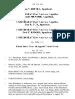 Olen v. Ritter v. United States of America, Kenneth Meador v. United States of America, Guy R. Cox v. United States of America, Paul C. Briggs v. United States, 230 F.2d 324, 10th Cir. (1956)