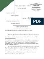 Meyers v. Pfizer, 10th Cir. (2014)