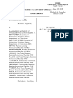 White v. Kansas DOC, 10th Cir. (2015)