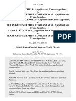 Walter A. Mitchell, and Cross-Appellant v. Texas Gulf Sulphur Company, and Cross-Appellee. George Gordon Reynolds, and Cross-Appellant v. Texas Gulf Sulphur Company, and Cross-Appellee. Arthur R. Stout, and Cross-Appellants v. Texas Gulf Sulphur Company, and Cross-Appellee, 446 F.2d 90, 10th Cir. (1971)
