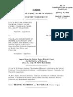 Taylor v. Colorado Dept of Health Care, 10th Cir. (2016)