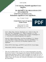 United States of America, Plaintiff-Appellant-Cross-Appellee v. Unified School District No. 500, Kansas City (Wyandotte County), Kansas, Defendants-Appellees-Cross-Appellants, 610 F.2d 688, 10th Cir. (1980)