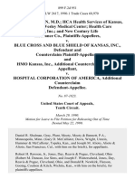 Walter L. Reazin, M.D. Hca Health Services of Kansas, Inc., D/B/A Wesley Medical Center Health Care Plus, Inc. And New Century Life Insurance Co. v. Blue Cross and Blue Shield of Kansas, Inc., and Counterclaim and Hmo Kansas, Inc., Additional Counterclaim v. Hospital Corporation of America, Additional Counterclaim, 899 F.2d 951, 10th Cir. (1990)
