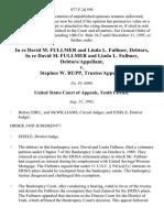 In Re David M. Fullmer and Linda L. Fullmer, Debtors, in Re David M. Fullmer and Linda L. Fullmer, Debtors/appellant v. Stephen W. Rupp, Trustee/appellee, 977 F.2d 595, 10th Cir. (1992)