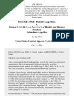 Doris George v. Donna E. Shalala, Secretary of Health and Human Services, 17 F.3d 1436, 10th Cir. (1994)