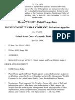 Hiram Wright v. Montgomery Ward & Company, 25 F.3d 1059, 10th Cir. (1994)