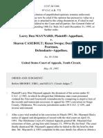Larry Don Maynard v. Sharon Casebolt Renee Swope Denise Cale J.R. Pearman, 113 F.3d 1246, 10th Cir. (1997)