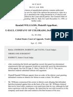 Randall Williams v. U-Haul Company of Colorado, 161 F.3d 19, 10th Cir. (1998)