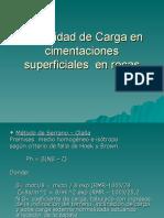 Capacidad de Carga en Cimentaciones Superficiales en Rocas