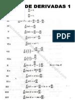 formulas para calculo diferencial