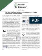 Palomar Engineers RFI Tip Sheet