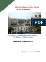 Admision 2017-1 UNMSM