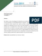 Levinas, RS Implicancias Educativas