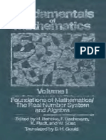 Fundamentals of Mathematics Vol 1 Foundations of Mathematics the Real Number System and Algebra