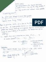 CAPM Notes