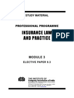 9.3 Insurance Law and Practice