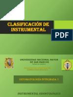 clasific de instrum