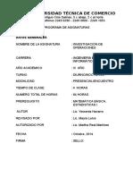 Programa de  Investigación de Operaciones.doc