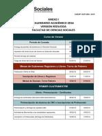 Calendario academico Comunicación Social UBA 2016