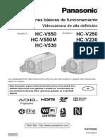 MANUAL DE USUARIO VIDEOCAMARA PANASONIC HC-V550_HC-V250_HC-V550M_HC-V230_HC-V530_UGB_ES