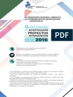 Convocatoria 4o seminario de Investigación UPN011