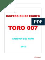 Inspeccion Scoop Tram - Toro 007
