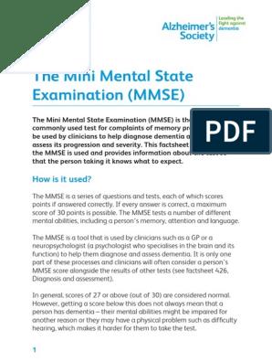 Mini mental test pdf