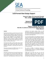2014 Ncsea Cold Formed Steel Design Support.v.sagan