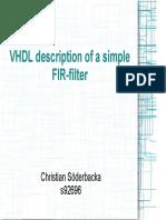VHDL fir filter