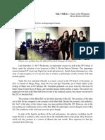 MuL 9 Reaction Paper