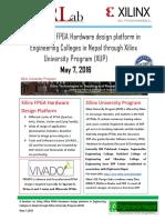 Seminar on FPGA in Nepal at May 7, 2016