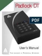 Aegis Padlock DT Manual