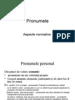 Limba Romana. Pronumele