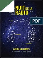 Livret de présentation de la Nuit de la Radio