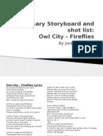Fireflies Preliminary Storyboard