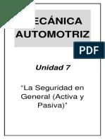 Mecánica Automotriz - Unidad 7