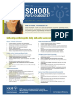 who are school psychologists flyer