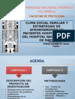 Clima Social Familiar y Estrategias de Afrontamiento en Pacientes Hospitalizados Del Hospital Nacional Dos de Mayo