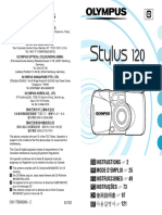 Olympus Stylus 120 Instructions Manual