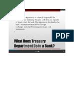 Treasury Audit Summary