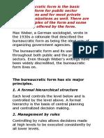 Bureaucracy Model of OD