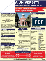 Advertisement - Anna University Distance Education MBA 2016